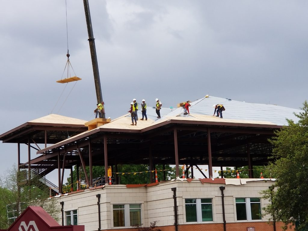 Roof Construction Project - ESA South